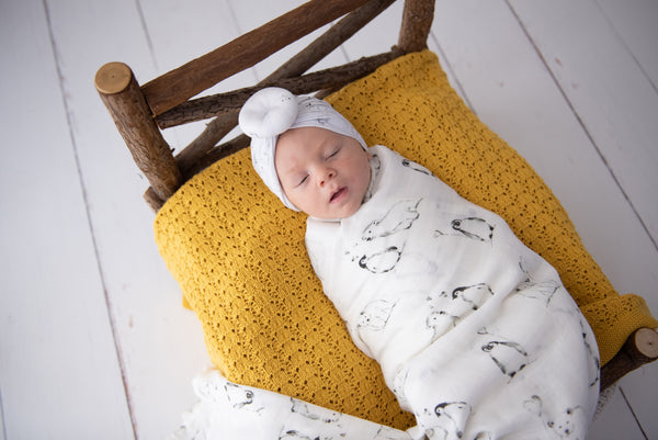 Organic Bamboo Swaddle - Riley