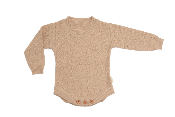 Organic Knitted Romper - August