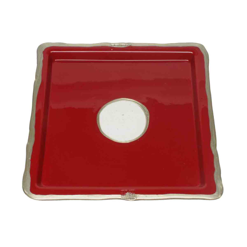 Resin Square Tray TRY-TRAY Cherry Red by Gaetano Pesce for Fish Design