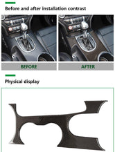 Load image into Gallery viewer, Carbon Fiber LHD Full Center Console Trim Overlay for Ford Mustang, GT, GT350- 2015-2019 (Fits Manual and Automatic)
