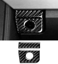 Load image into Gallery viewer, Carbon Fiber Glove compartment Lock Overlay for Ford Mustang, GT, GT350, Ecoboost 2015-2019