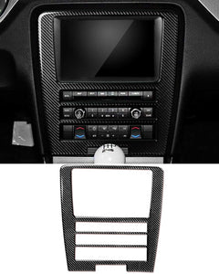 Carbon Fiber Navigation Multimedia Dash Trim For Ford Mustang Premium or Base  2010-2014