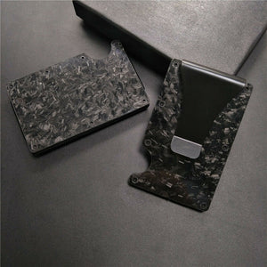 Real Forged Carbon Fiber Wallet RFID
