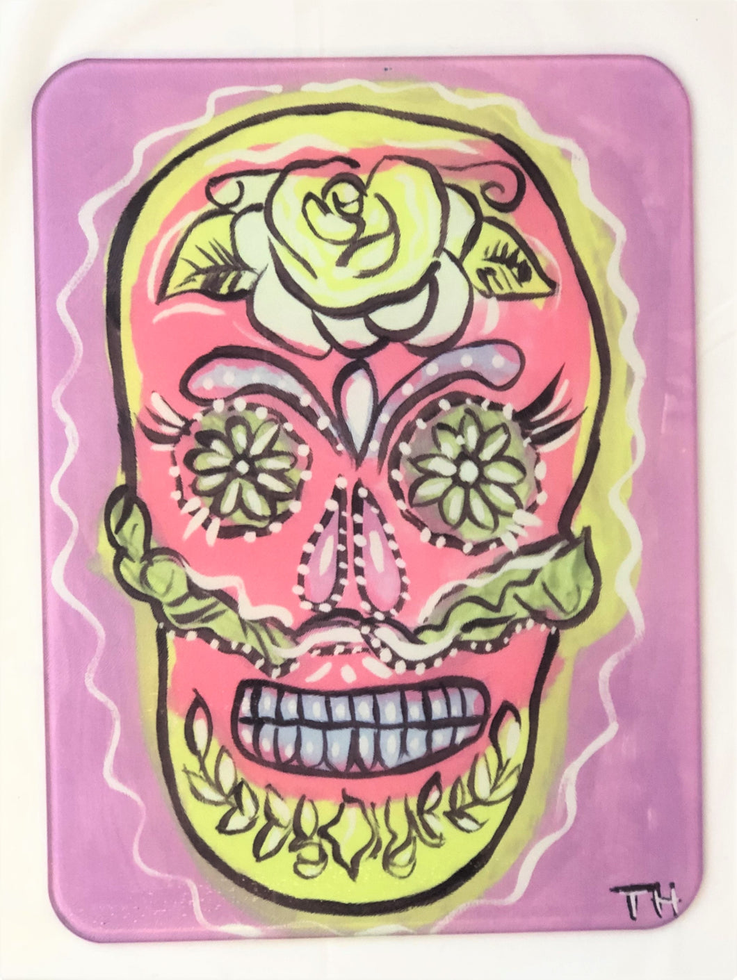 Candy Skull Pink-Cutting Board