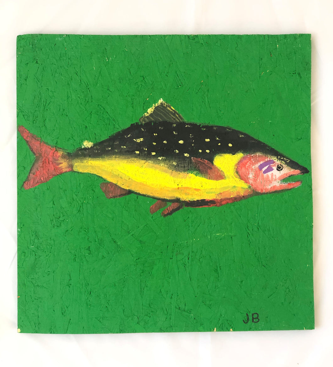 Tropical Fish on Plywood