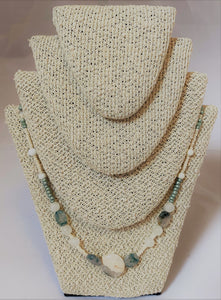 Ivory and Aqua Necklace