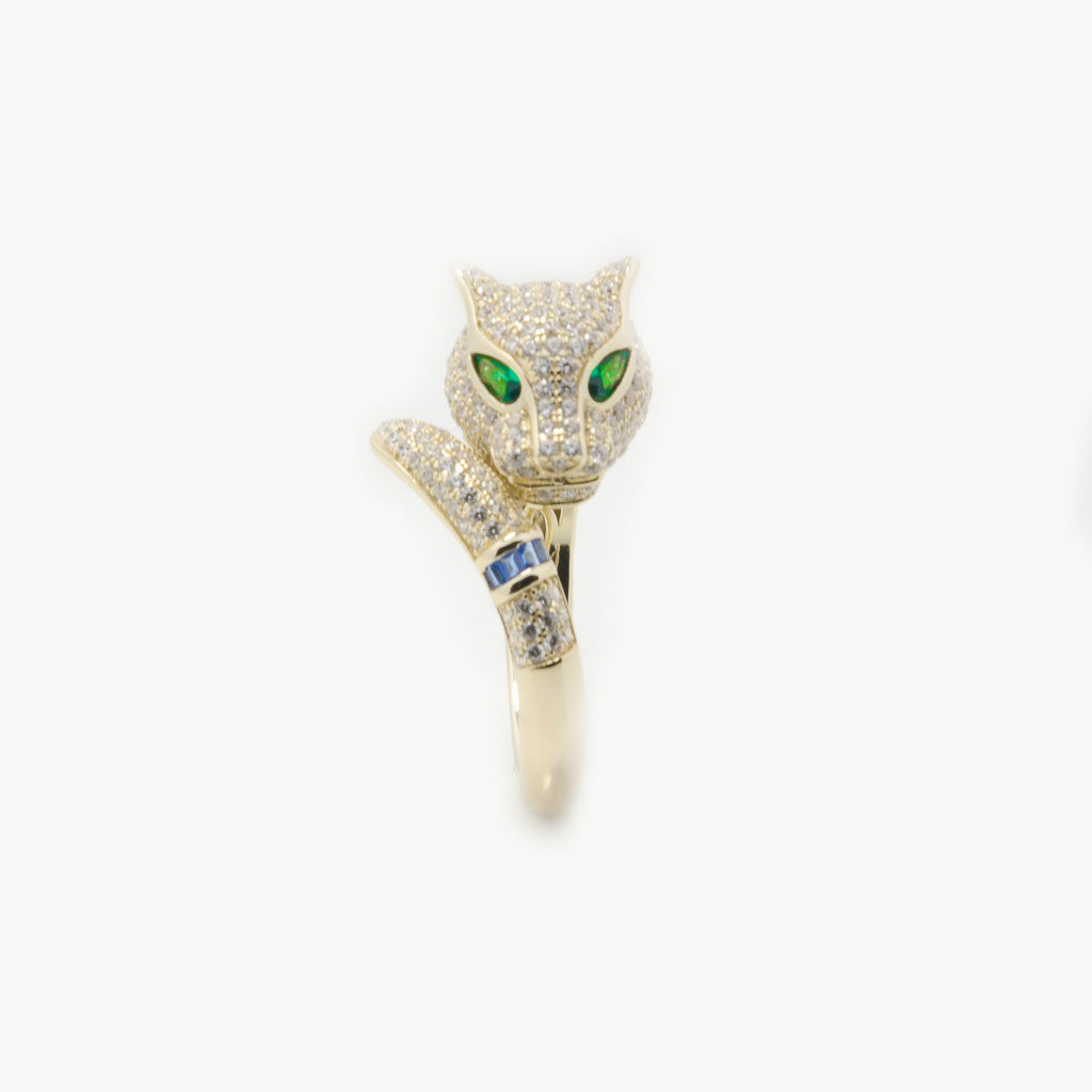 Feline Jungle Ring Gold