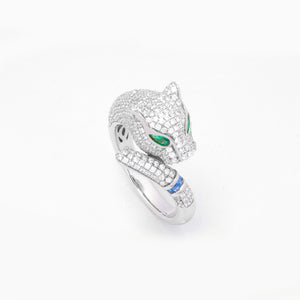 Jungle Feline Jungle Ring Silver
