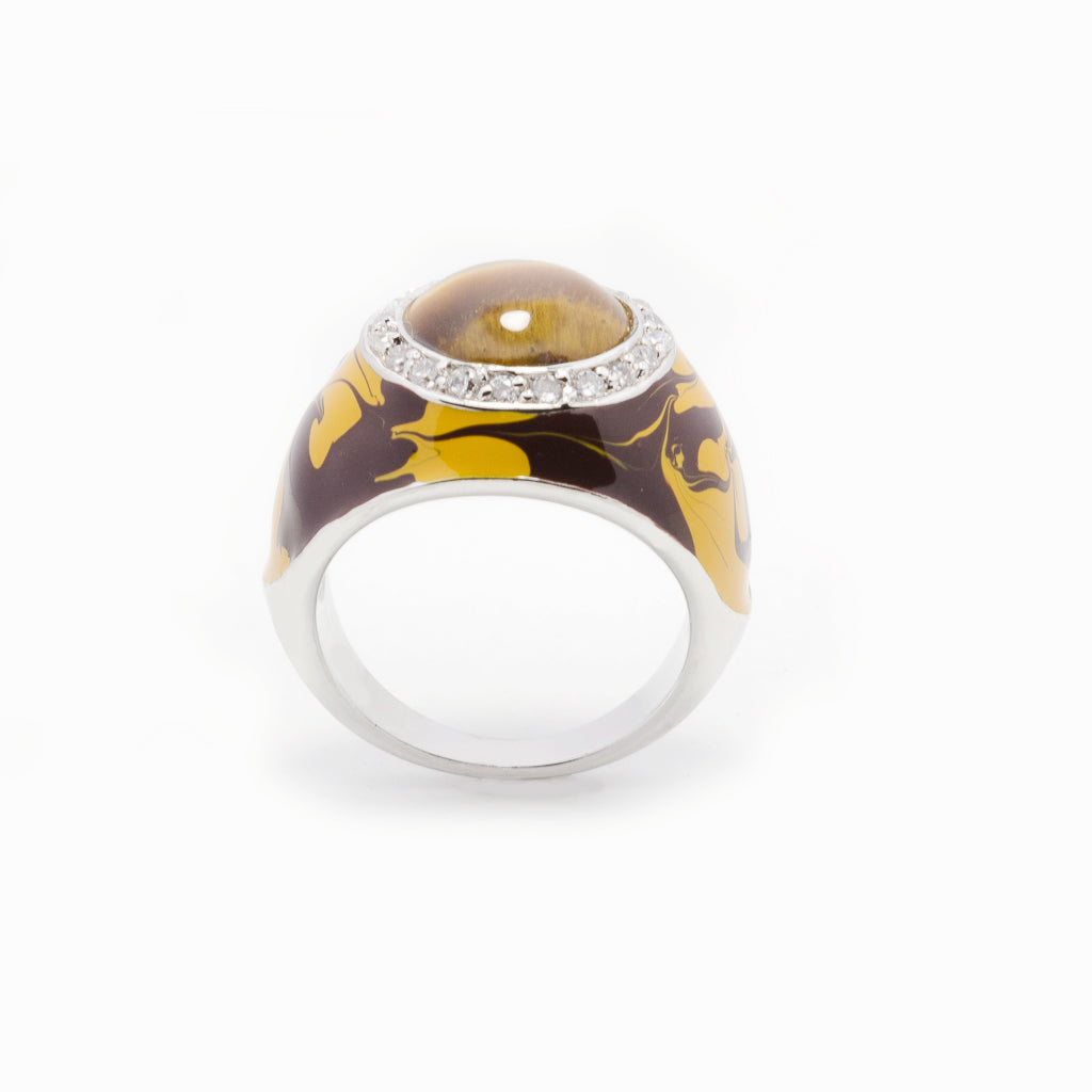 Ojo de Tigre Jungle Ring