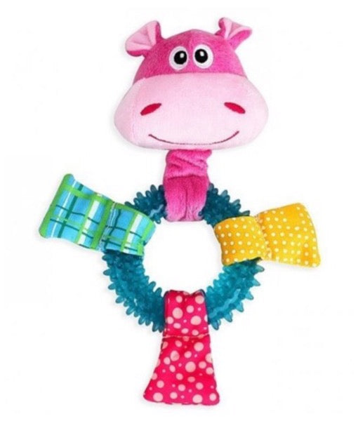Pawise- Puppy Toy Hippo TPR ring