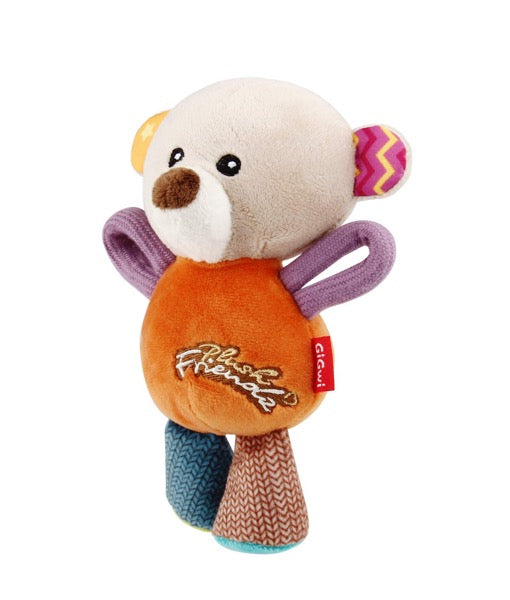 GiGwi - Bear 'Plush Friendz' with squeaker