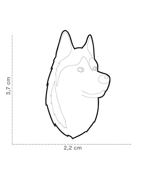 ID Tag - Red & White Husky