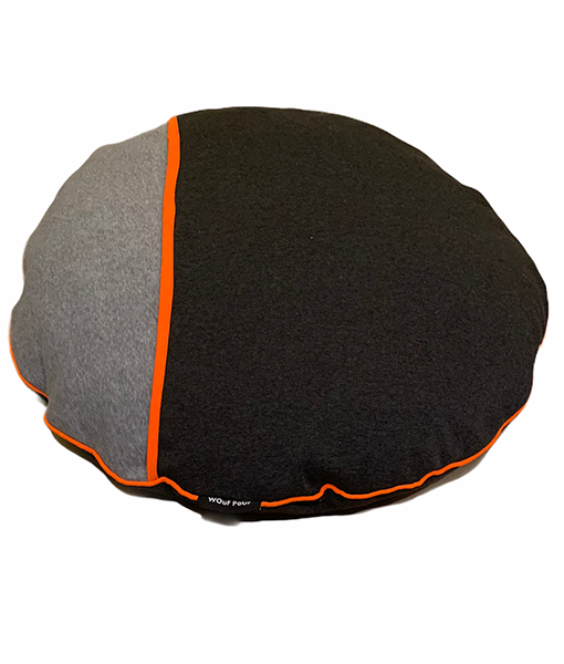 Wouf Pouf - Snuggle Bed Small Light & Charcoal Grey