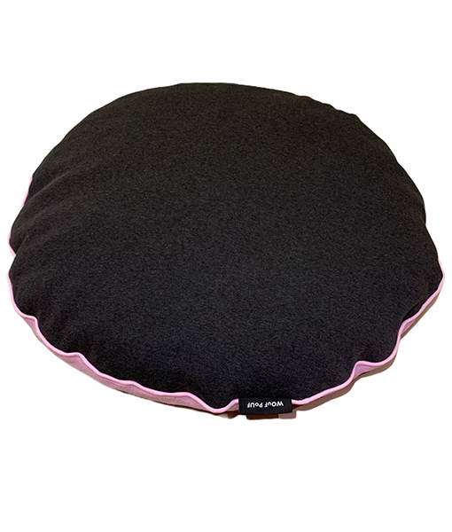 Wouf Pouf - Donut Bed Small Pink & Charcoal grey