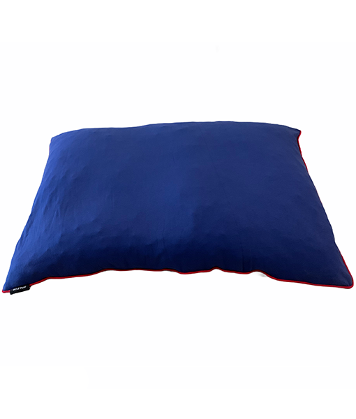 Wouf Pouf - Royal blue jersey/dark grey fleece 130cmx90cm
