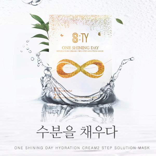 8:TY One Shining Day Two steps solution facial mask 5ea (1 box)