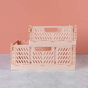 Pink Tiny Folding Storage Crate