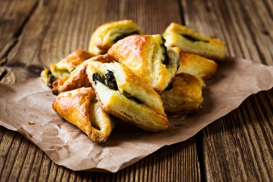 Spinach and Ricotta Filo Triangles