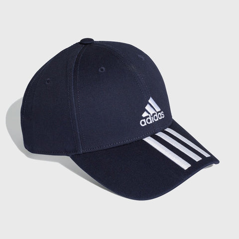 3 Stripe 6 Panel Cotton Cap _ 166427 _ Blue