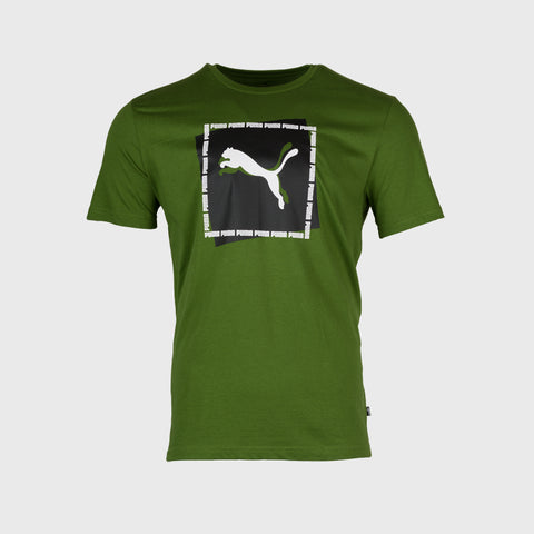 Cat Brand Graphic Tshirt _ 166442 _ Green