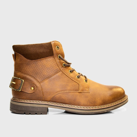 Laceup Boot _ 168107 _ Brown