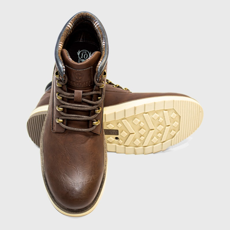 Laceup Boot _ 168109 _ Brown