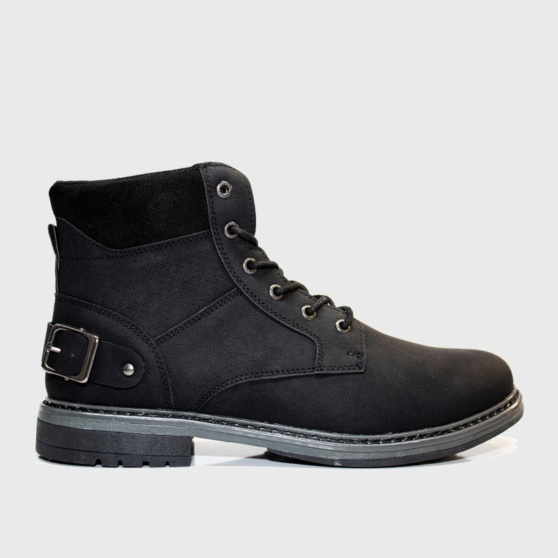 Laceup Boot _ 168110 _ Black