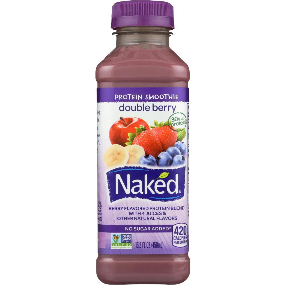 Naked Juice: Protein Smoothie Double Berry, 15.20 Oz