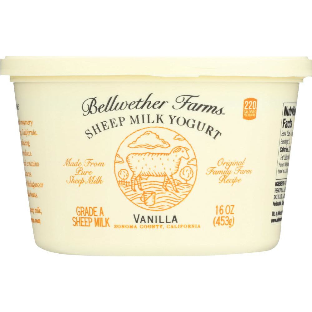 Bellwether Farms: Sheep Milk Yogurt Vanilla, 16 Oz
