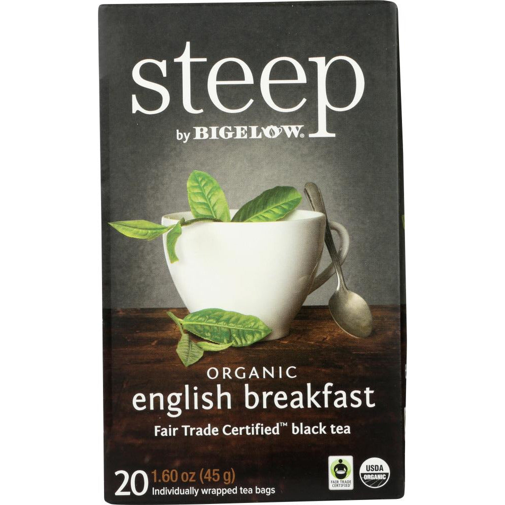Bigelow: Steep Organic English Breakfast Tea, 1.60 Oz