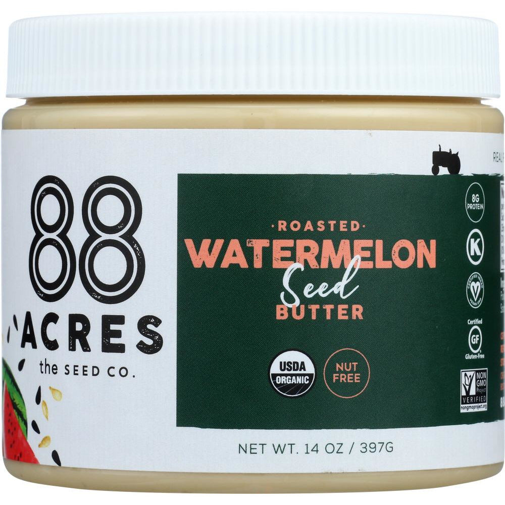 88 Acres: Roasted Watermelon Seed Butter Jar, 14 Oz