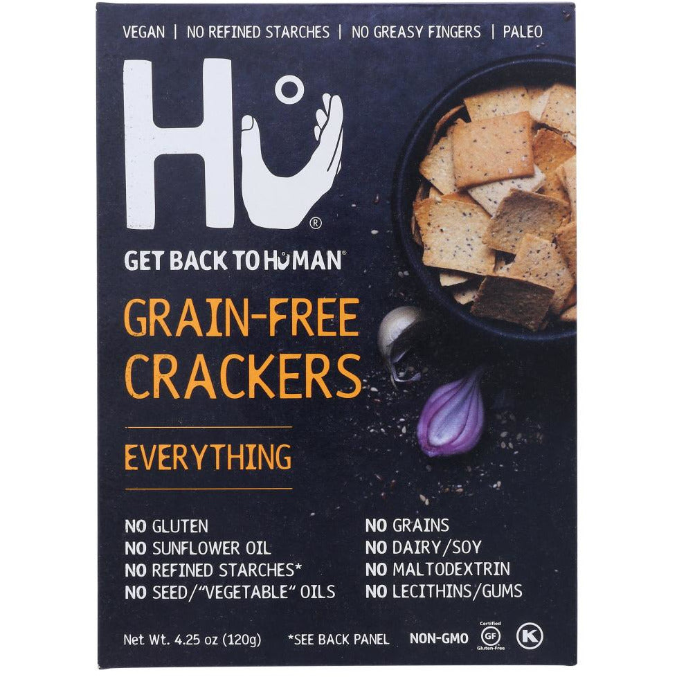 Hu: Everything Grain-free Crackers, 4.25 Oz