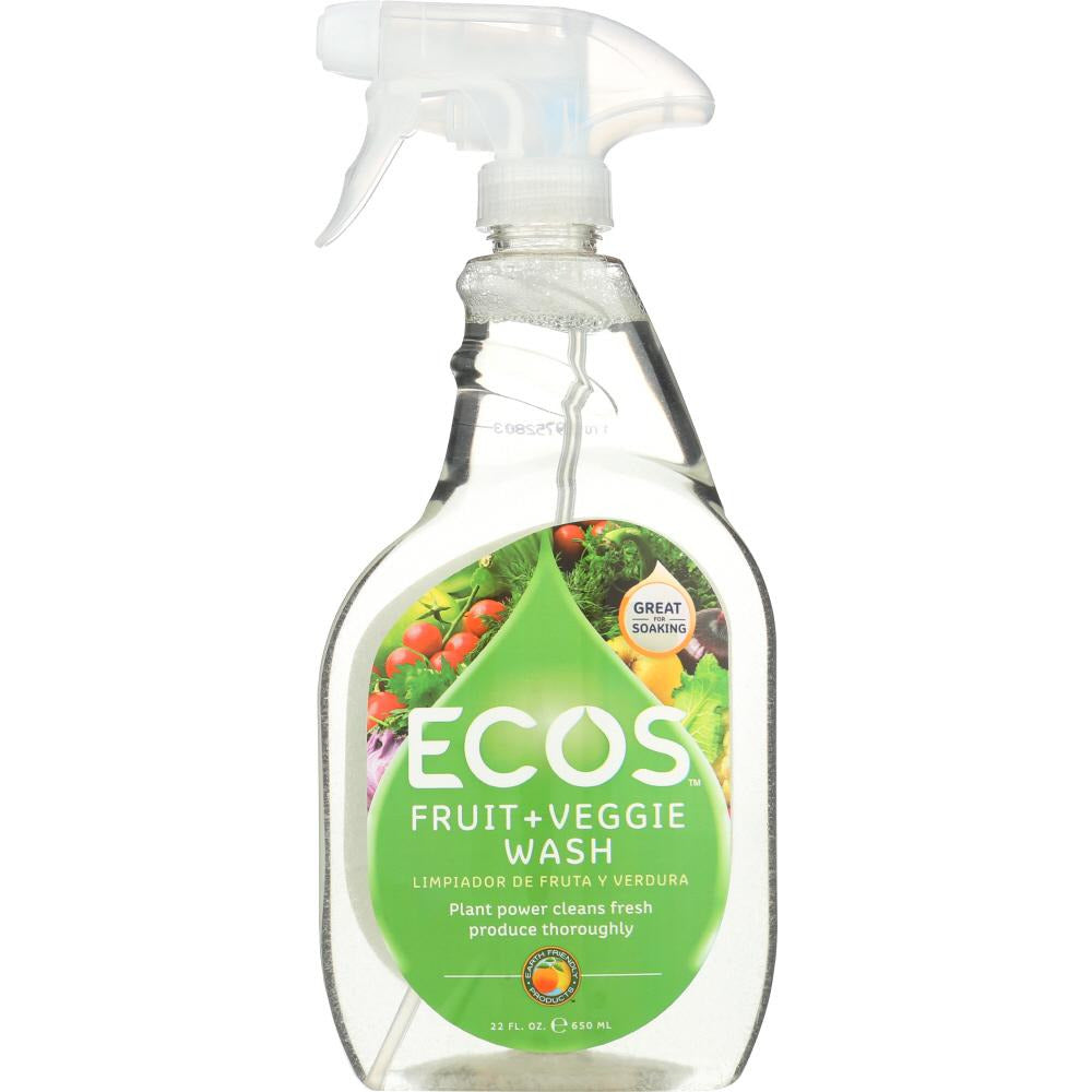 Earth Friendly: Fruit And Vegetable Wash, 22 Oz