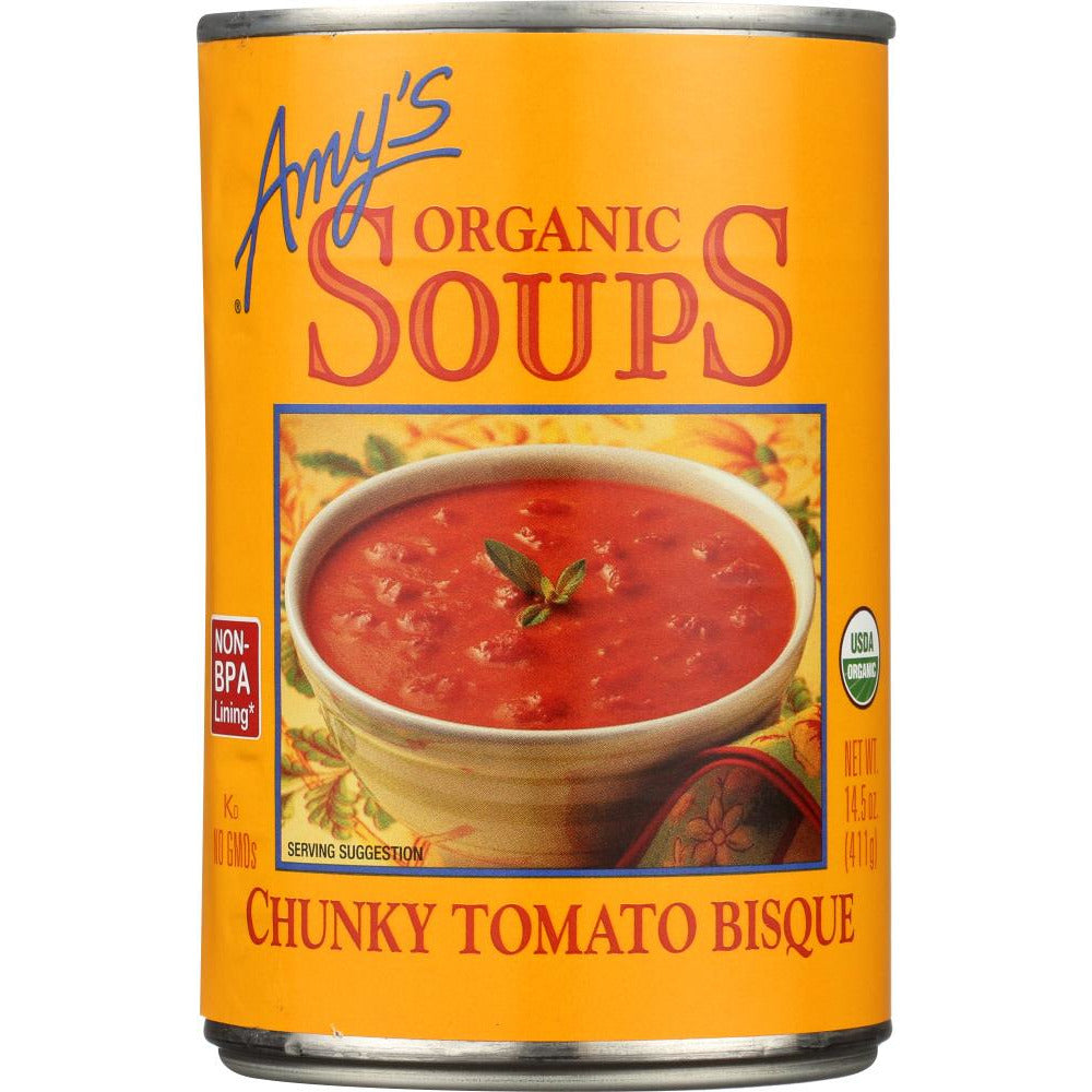 Amy's: Organic Soup Chunky Tomato Bisque, 14.5 Oz