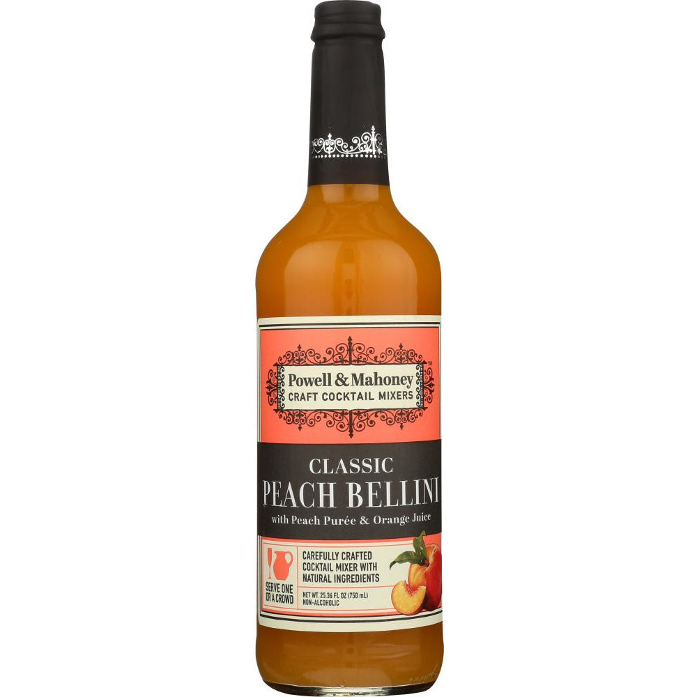 Powell & Mahoney: Cocktail Mixer Peach Bellini, 750 Ml