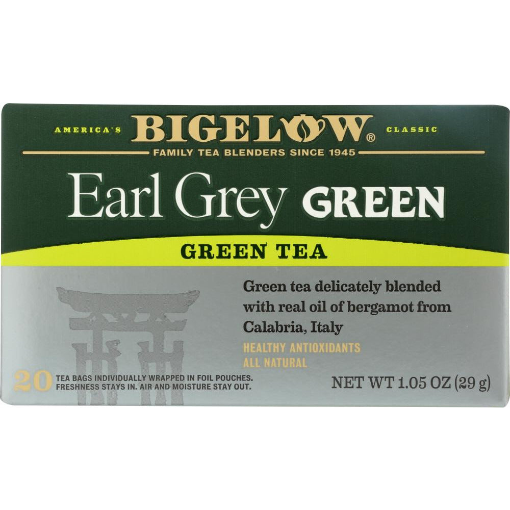 Bigelow: Earl Grey Green Tea Healthy Antioxidants 20 Tea Bags, 1.05 Oz