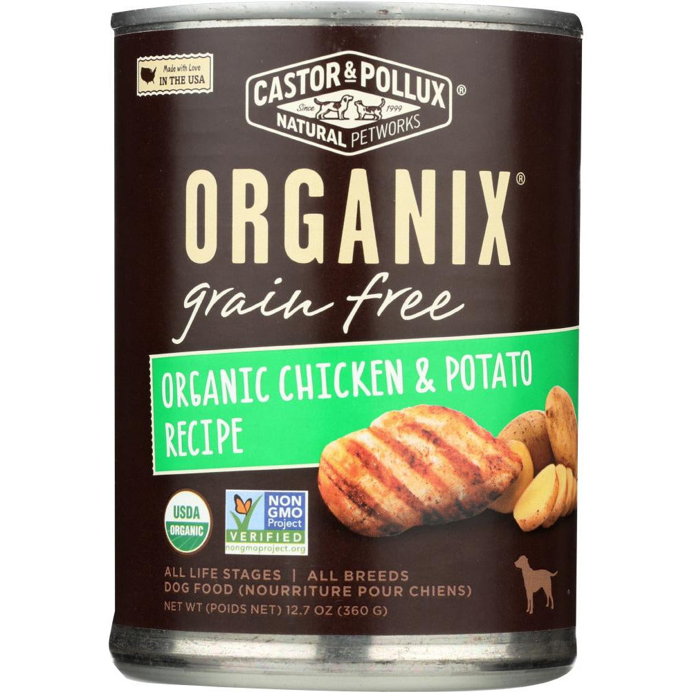 Castor & Pollux: Organix Grain Free Chicken & Potato Canned Dog Food, 12.7 Oz