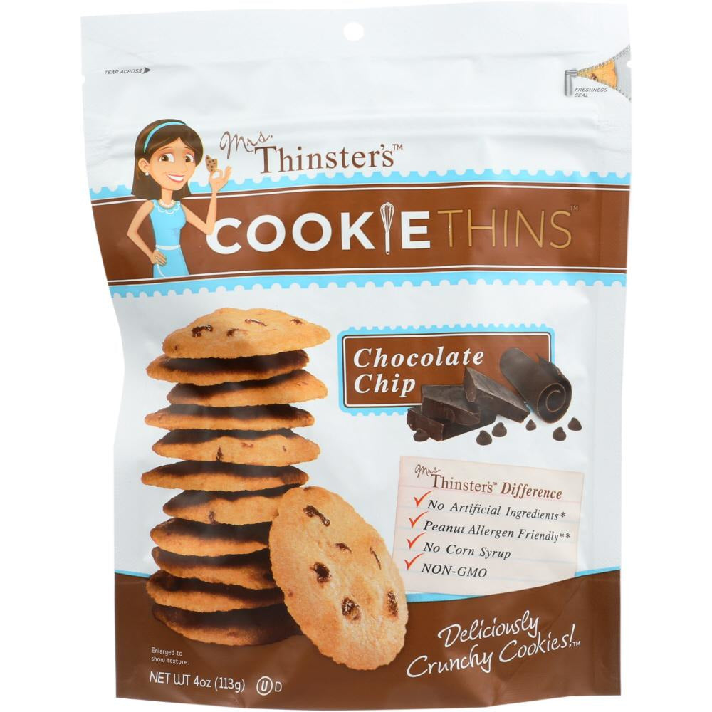 Mrs Thinsters: Cookie Thin Chocolate Chip, 4 Oz
