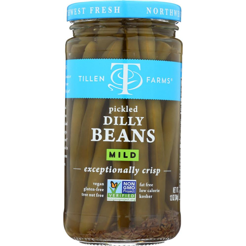 Tillen Farms: Crispy Dilly Beans Pickled Extra Mild, 12 Oz