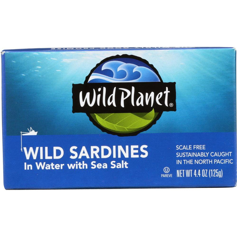 Wild Planet: Wild Sardines In Water With Sea Salt, 4.38 Oz