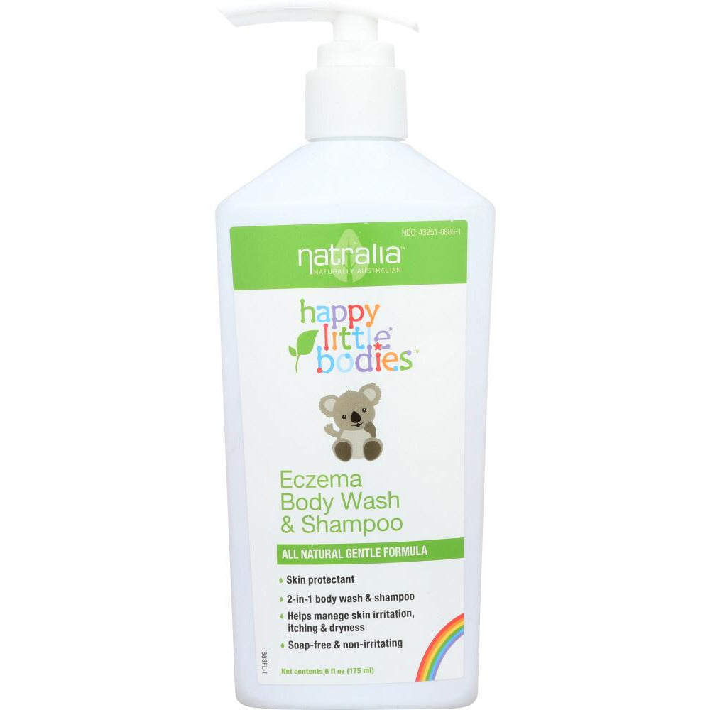 Natralia: Happy Little Bodies Eczema Body Wash & Shampoo, 6 Oz