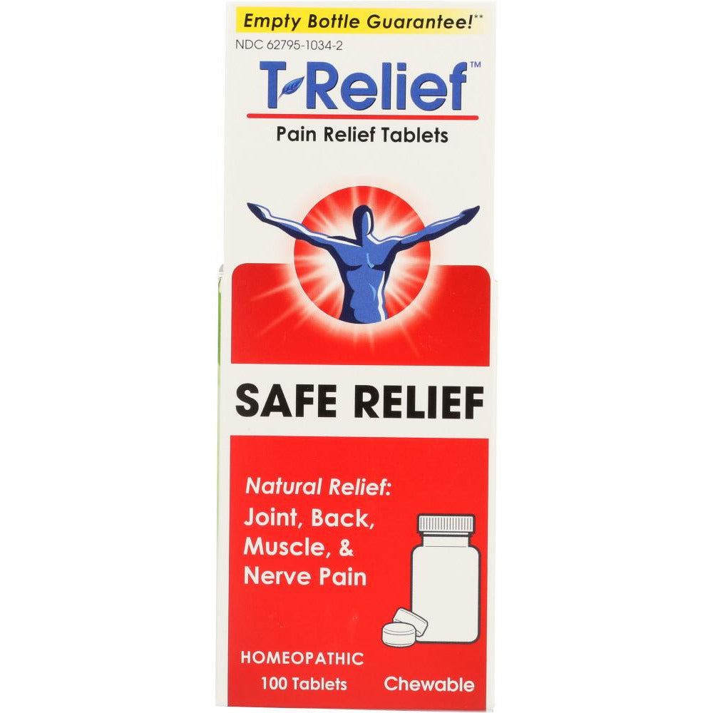 Medinatura: T- Relief Pain Relief Tablets, 100 Tablets