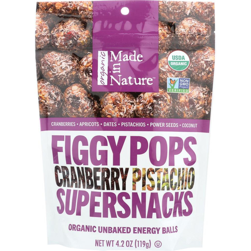 Made In Nature: Cranberry Pistachio Figgy Pops, 4.2 Oz