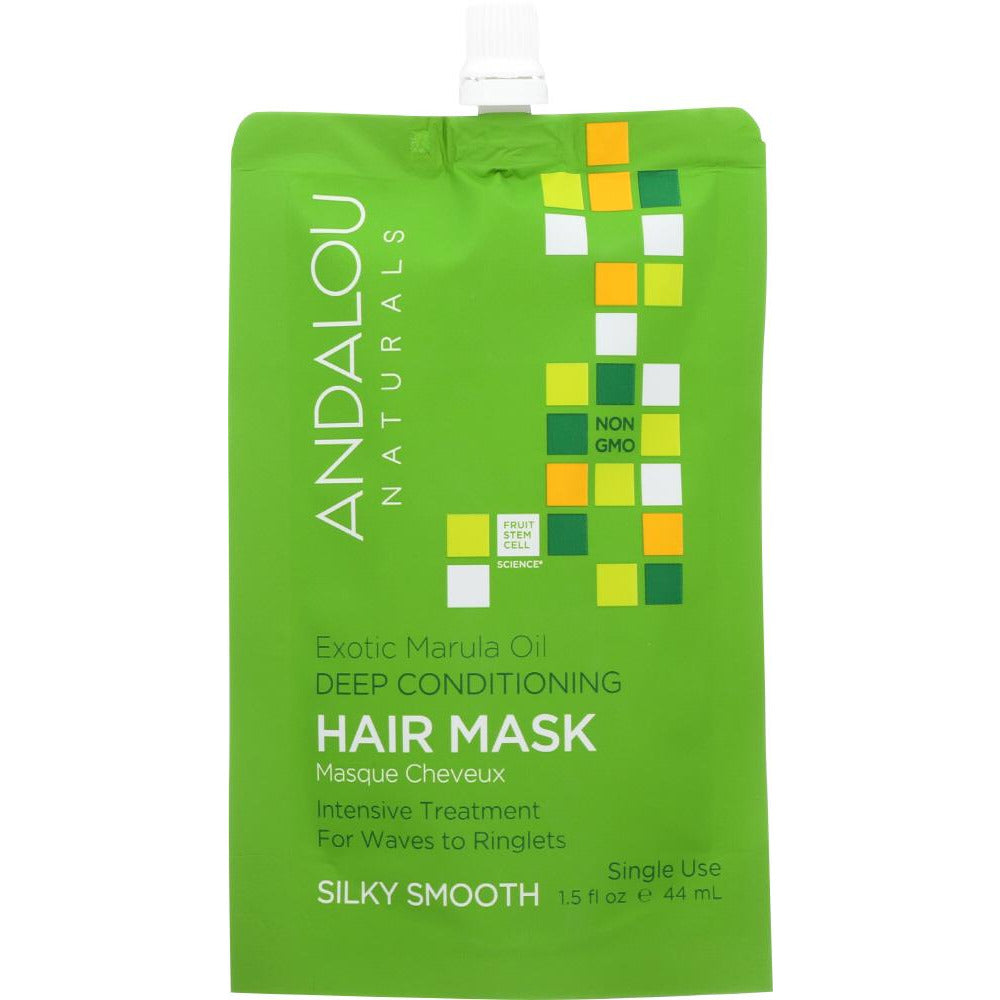 Andalou Naturals: Exotic Marula Oil Silky Smooth Deep Conditioning Hair Mask, 1.5 Oz