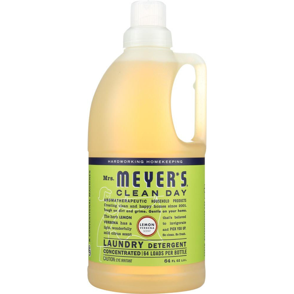 Mrs. Meyer's: Clean Day Laundry Detergent Lemon Verbena Scent, 64 Oz