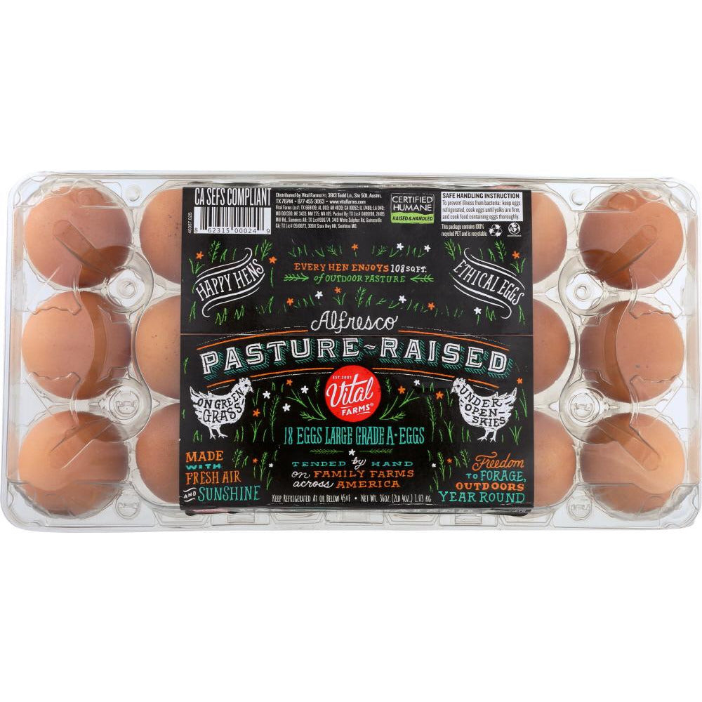 Alfresco Eggs: Pasture Raised Eggs, 1.5 Dz