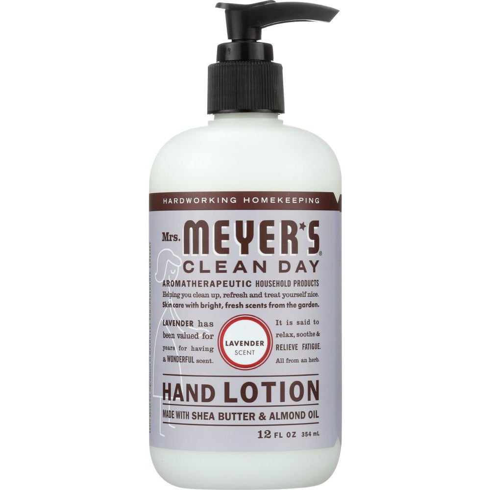 Mrs Meyers Clean Day: Lotion Hand Lavender, 12 Fo