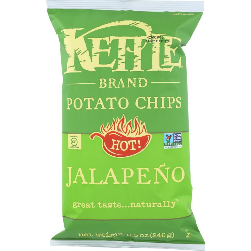 Kettle Brand: Jalapeno Potato Chips, 8.5 Oz