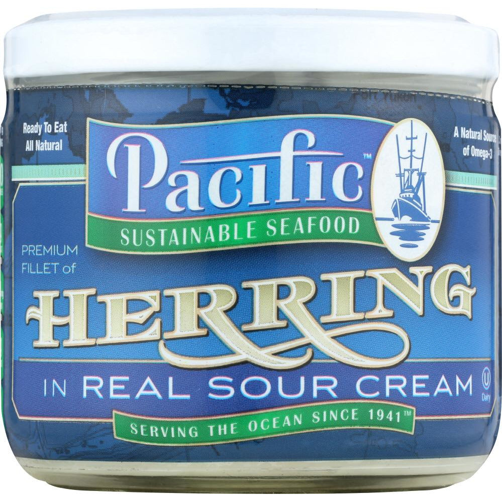 Pacific Sustainable Seafood: Herring In Sour Cream, 12 Oz