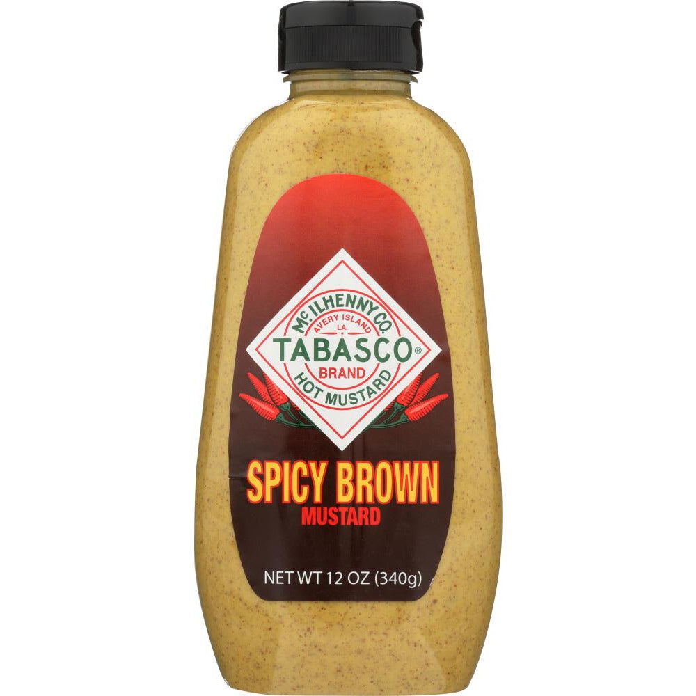 Tabasco: Mustard Brown Spicy, 12 Oz
